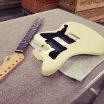 CS Doheny in Vintage White with gold anodized pickguard